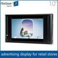 """Flintstone 10"""" tela lcd de publicidade, 10"""" lcd motion monitor de tv, 10 polegadas exposição de varejo"""