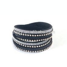 2015New popular hottest sparkling crystal rhinestone slake wrap bracelet slaking gift for women and men
