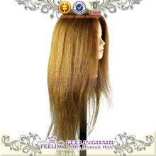 2014 Wholesale price training mannequin head 100% human hair