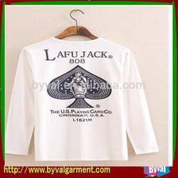Trendy cheap printing long sleeve tshirts for men