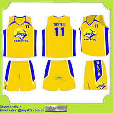 polyester cool dry uniform for basketball