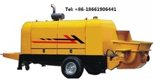 trailer small cement pump 30m3/h output Chinese machinery