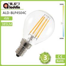 4W E14 LED filament Bulb CE RoHS,4w led bulb lighting E12