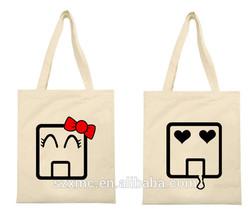 Custom patterns hot sale fashion shopping bag tote bag canvas couple bags