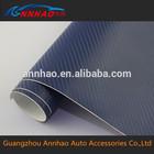 Annhao 1.52*30m Bubble Wrap Blue 3D Carbon Fiber Sticker 3m Car Wrapping Vinyl