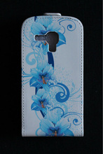 Butterfly Flower Leather Case For Samsung Galaxy S Duos 2 GT-S7582