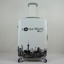 Printed hard shell abs/pc luggage