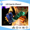 New design acrylic case for iPhone 6 with LED flash