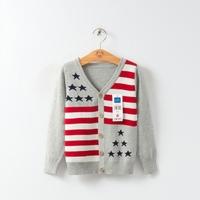 MS40746A 2014 weatern stylish autumn v-neck stripes boys cardigan sweaters