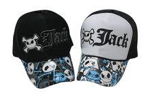 Skull baseball cap , printing cap for halloween