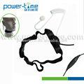 La garganta- activado micrófono con ptt manual y negro cable en espiral de vigilancia encubierta y comunicación( pte- 796n)