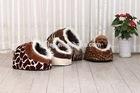 shoe shape long plush cat cave/pet dog bed/pet bed