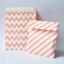 peach color Candy Paper Bag Pink