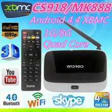 MK888 (K-R42/CS918) Android 4.4 TV Box RK3188 Quad Core Mini PC RJ-45 WiFi XBMC best android tv set top box