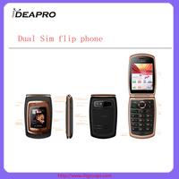 F001 1.44 inch Mtk6250 quad band basic dual sim flip phone