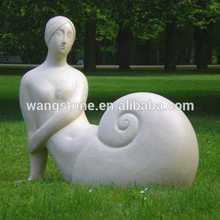 Hot fashion exotic india stone sex girl snail marble christmas decor