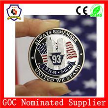 World Trade Center 1993 souvenir coin & free artwork or design metal craft making in huahui factory (HH-souvenir coin-0005)