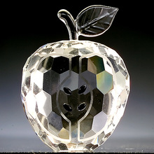 delicate clear colorful crystal apple MH-104624