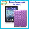 Luxury anti-shock diamond shape design TPU cover case for ipad 2/3/4 case