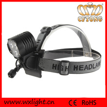 Ultra bright rechaargeable with adjustable strap band led cree head light