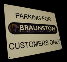 Personalised Company Logo Office/Private/Reception Large Aluminium Metal Sign A4