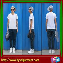 High quality blank t-shirt for men 95 cotton 5 lycra men's t shirt wholesale china