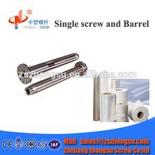 Extruder screw & barrel / plastic film blowing machine price