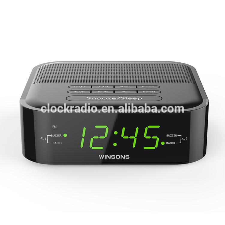 pll digital fm green led alarm clock radio receiver for home hotel buy hotel clock radio led. Black Bedroom Furniture Sets. Home Design Ideas