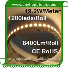 Ultra Bright single row 240ledm warm white cri 90 led strip