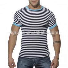 Stripe short sleeve t shirt cheap china wholesale clothing for men