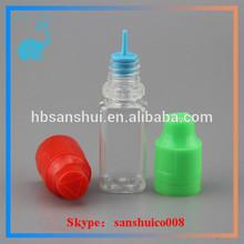 soft pet child tamperproof bottle empty eliquid 20ml pet bottle