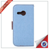 Latest Jean Cloth Wallet Leather Case For Iphone 5 , For Iphone 5 Leather Wallet Case