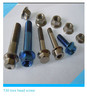 titanium flange bolt and nut for motorcycle