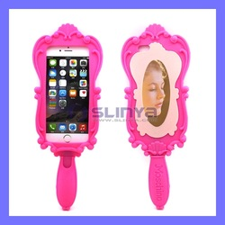 Beautiful Princess Barbie Silicone Mirror Phone Case For iPhone 6