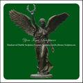 caliente la venta de decoración de jardín fundido estatua de bronce antiguo con columpios