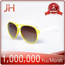 2014 fashion design plastic sunglasses with fluorescent colors ,colorful glasses