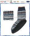 Marine, fairisle motif. pantoufle tricotés chaussettes pour hommes