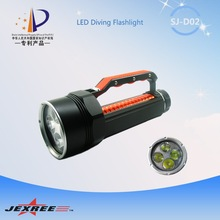 Jexree 3500 lumens 30W SJ-D02 4*CREE XM-L 2 rechargeable diving led torch