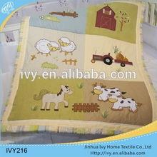 Custom Floral Print baby quilt sheet girls