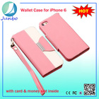 Luxury Flio wallet leather cheap mobile phone case for iphone 6
