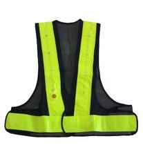 Motorcycle flashing led safety vest