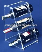 acrylic display rack, acrylic wine bottle holder, plexiglass wine show case
