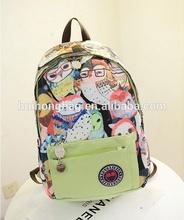 New products ladies retro girls waterproof owl high school backpack for school wholesale