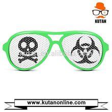 Modern cheapest own brand logo pixel pinhole sunglasses