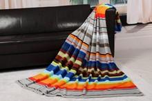 Home Textile Blankets, coral Fleece Blanket, stripe Bedding Set,