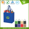 80gsm nonwoven custom printed 2 strip grocery tote bag