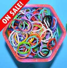 2014 Hot Wholesale DIY Colorful Loom Bands diy handmade bracelet diy rubber bands colored arm bands