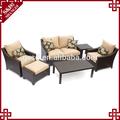 S&d urbano moderno mobiliario de interior del patio trasero de mimbre mimbre muebles del patio sofá seccional sofá de conjunto