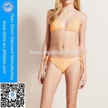 Hot sale simple adjustable bandage bikini beautiful mature women in bikini