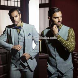 2015 Wholesale Light Green Sequare Stripe Patterns With Green Dot Shirt New Design Tuxedo Men Suit